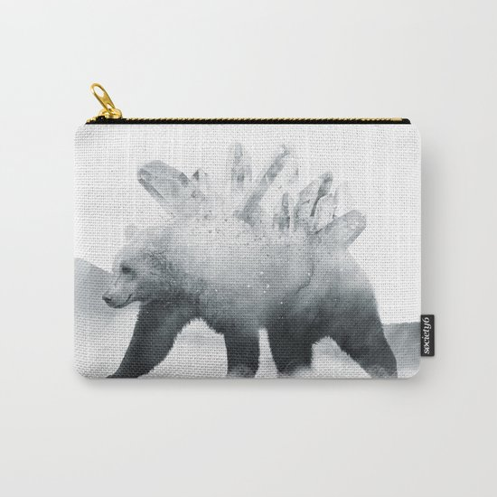 Crystal Bear Carry-All Pouch