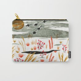 Night Snow illustration by Amanda Laurel Atkins Carry-All Pouch