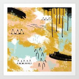 Presence of Life, Abstract Tribal Art Art Print