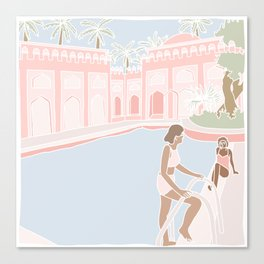 Motel Pool Canvas Print