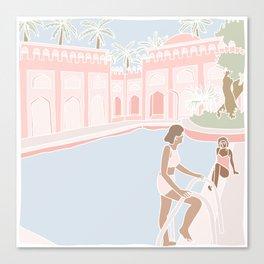 Motel Pool Canvas Print