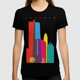 Shapes of Chicago. Accurate to scale T-shirt