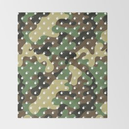 CAMO & WHITE BOMB DIGGITYS ALL OVER LARGE Throw Blanket