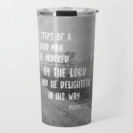 Steps of a Good Man Bible Verse Travel Mug