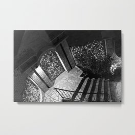 Doorway - black and white Metal Print