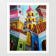 Remedios, Cuban town Art Print