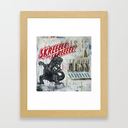 Skreeee Framed Art Print