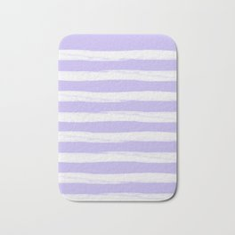 Lavender Purple Gross Stripes Bath Mat