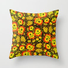 Floral Ethnic Pattern Throw Pillow