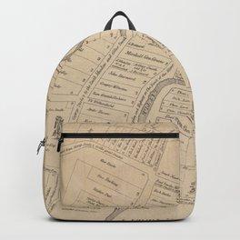 Vintage Map of Hartford CT  in 1640 (1890) Backpack