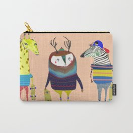 Skateboarding Animals by Ashley Percival Carry-All Pouch