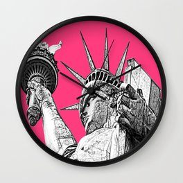 New York Statue Of Liberty Wall Clock