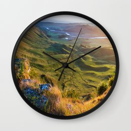Beautiful Valley Landscape Wall Clock