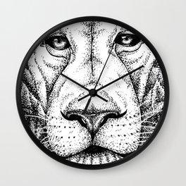 Lion Dots Wall Clock