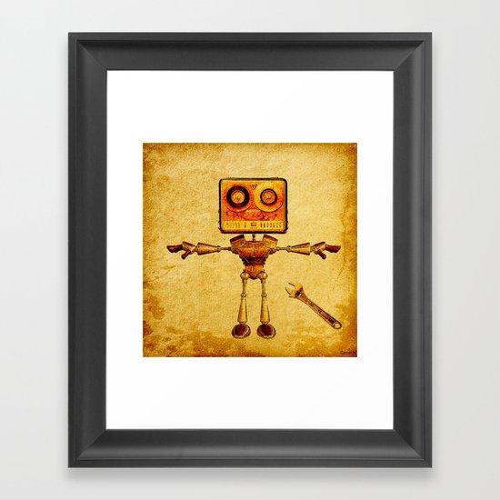 Repair of the robot Framed Art Print