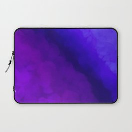 Deep Dark Abyss - Ultra Violet Ombre Abstract Laptop Sleeve
