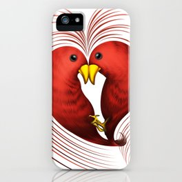 HeartBirds iPhone Case