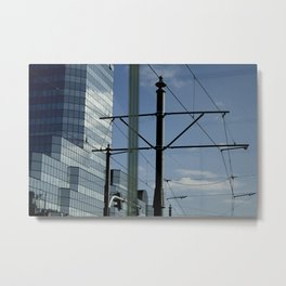 Lines and blues Metal Print