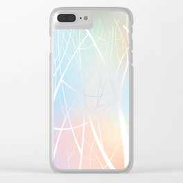 Colorful Tree Clear iPhone Case