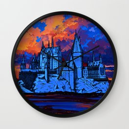 HOGWARTS CASTLE AT PAINTING Wall Clock