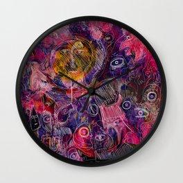 Pink Morning Street Art Graffiti Art Wall Clock