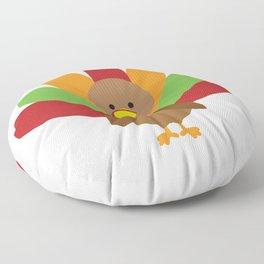 Cute Thanksgiving turkey Floor Pillow