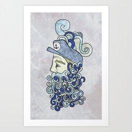 Bearded Sailor Art Print