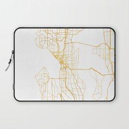 SEATTLE WASHINGTON CITY STREET MAP ART Laptop Sleeve