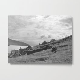 Abandoned Cottages on Blasket Islands Metal Print