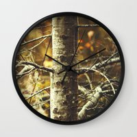 woodland Wall Clocks featuring Woodland by BURNEDINTOMYHE∆RT♥