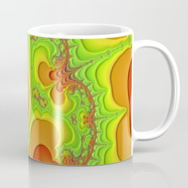 abstract art fractal art Psychedelic green poster Coffee Mug