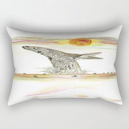 Sunset Whale Surf Lineup Rectangular Pillow