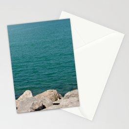 The calming beach view Stationery Cards