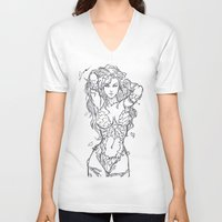 poison ivy V-neck T-shirts featuring Poison Ivy by Leamartes