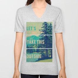 Take This Outside Nature Blocks Unisex V-Neck