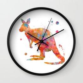 Colorful Kangaroo Wall Clock