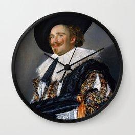 Frans Hals - Laughing Cavalier - Renaissance Fine Art Retro Vintage Oil Painting Wall Clock