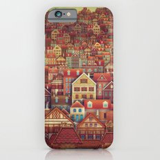 Cute City Street Scene ,Many Houses iPhone 6s Slim Case