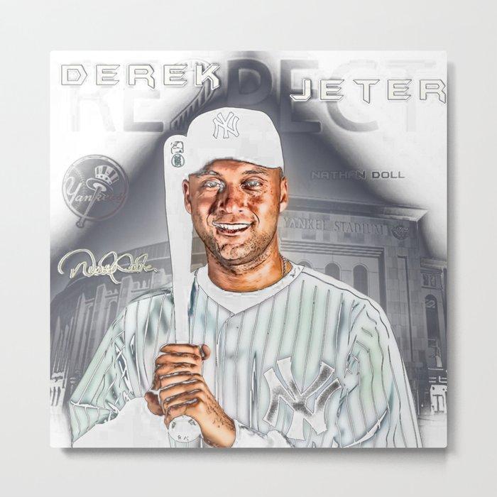 Re2pect Derek Jeter Metal Print