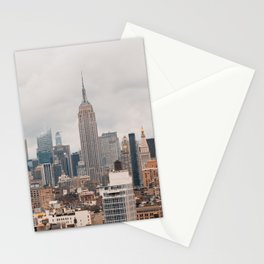 Empire State Building in Grey Stationery Cards