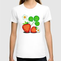 strawberry T-shirts featuring Strawberry by LaDa