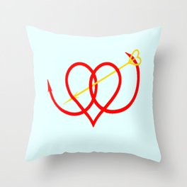 Heart and Arrow Just for You Throw Pillow