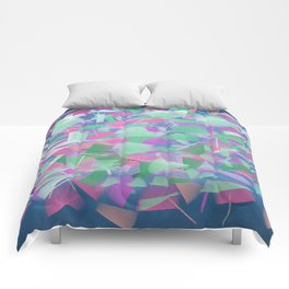 Bright Colored Shards Comforters