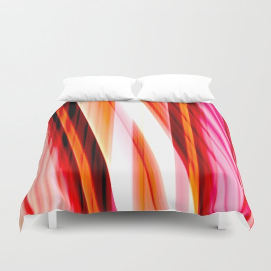 red input Duvet Cover