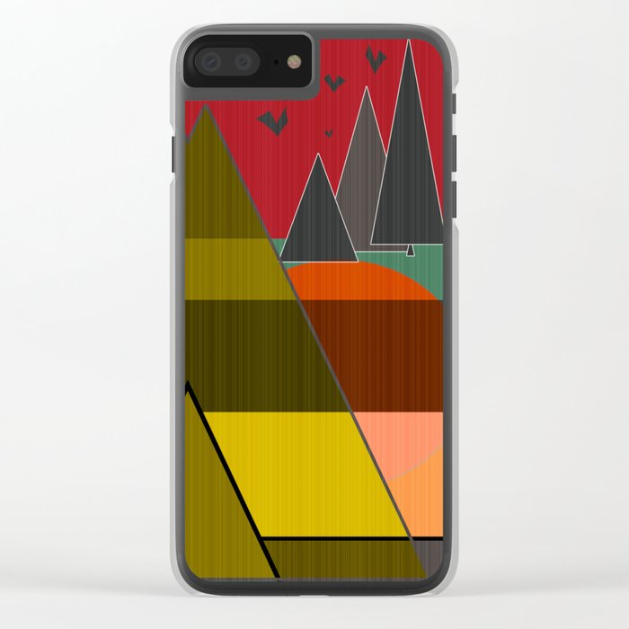 Abstract pattern . Mountains. Clear iPhone Case