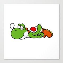 Yoshi Mario Sleep Canvas Print