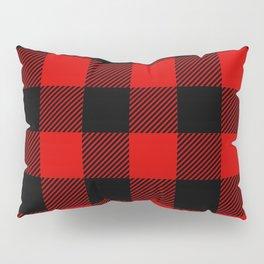 Red Lumberjack Pattern Pillow Sham