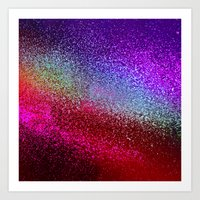 glitter Art Prints featuring GLIttER by Monika Strigel