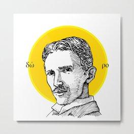 St. Tesla Metal Print