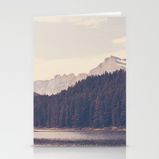 Morning Mountain Lake Stationery Cards